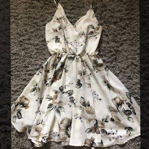 A cool tone floral dress 🌻.